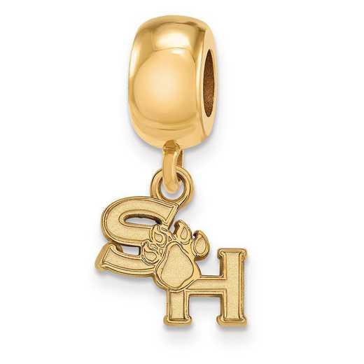 GP014SHS: SS GP LogoArt Sam Houston State Univ Bead Charm XS Dangle