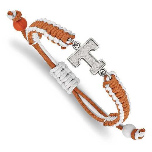 ST514UTN: Stainless Steel LogoArt Univ of Tennessee Color Bracelet