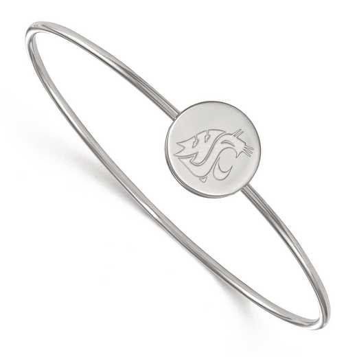 SS011WAS-7: SS LogoArt Washington St Slip on Bangle
