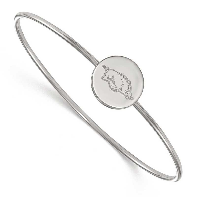 SS013UAR-7: SS LogoArt Univ of Arkansas Slip on Bangle