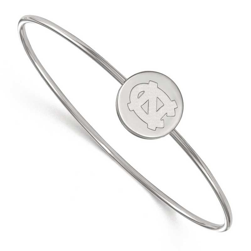 SS013UNC-7: SS LogoArt Univ of North Carolina Bangle Slip on
