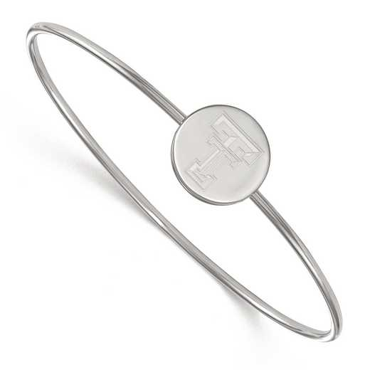 SS014TXT-7: SS LogoArt Texas Tech Univ Slip on Bangle