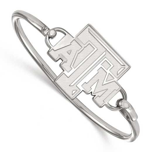 SS015TAM-7: SS LogoArt Texas A&M Univ Bangle
