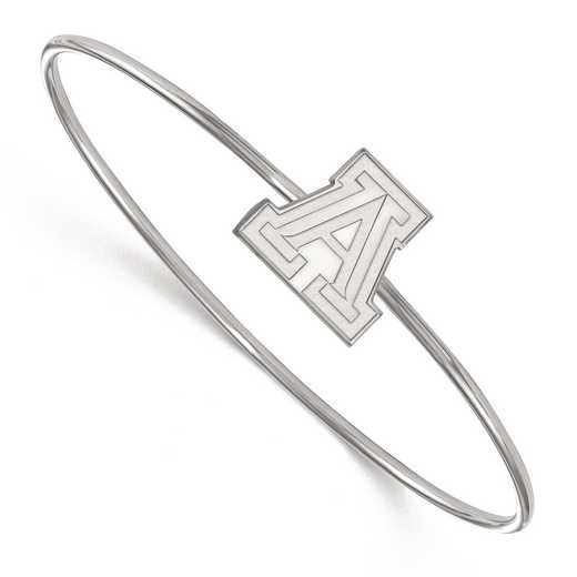 SS044UAZ-7: SS LogoArt Univ of Arizona Slip-on Bangle