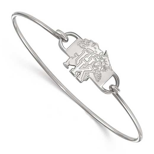 SS061UK-7: SS LogoArt Univ of Kentucky SML Ctr Wire Bangle