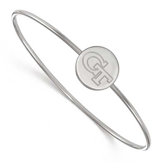 SS066GT-6: SS LogoArt Georgia Institute of Technology Wire Bangle