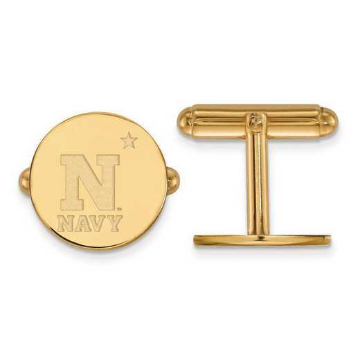 4Y002USN: 14ky LogoArt Navy Cuff Link