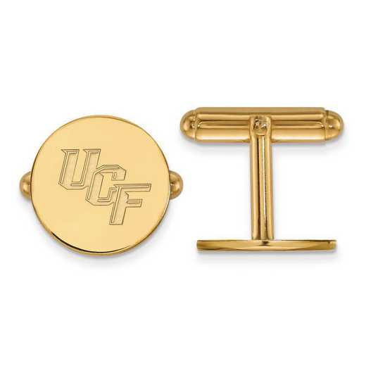 4Y010UCF: 14ky LogoArt University of Central Florida Cuff Link