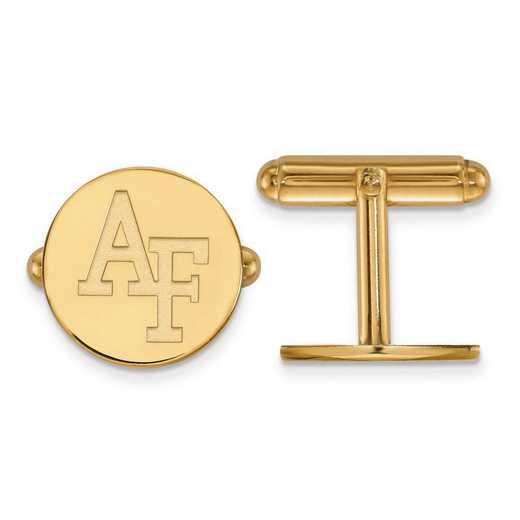 4Y010USA: 14ky LogoArt United States Air Force Academy Cuff Link
