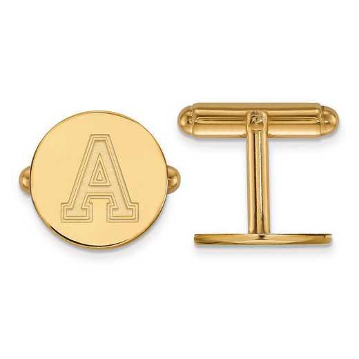 4Y010USMA: 14ky LogoArt U.S. Military Academy Cuff Link