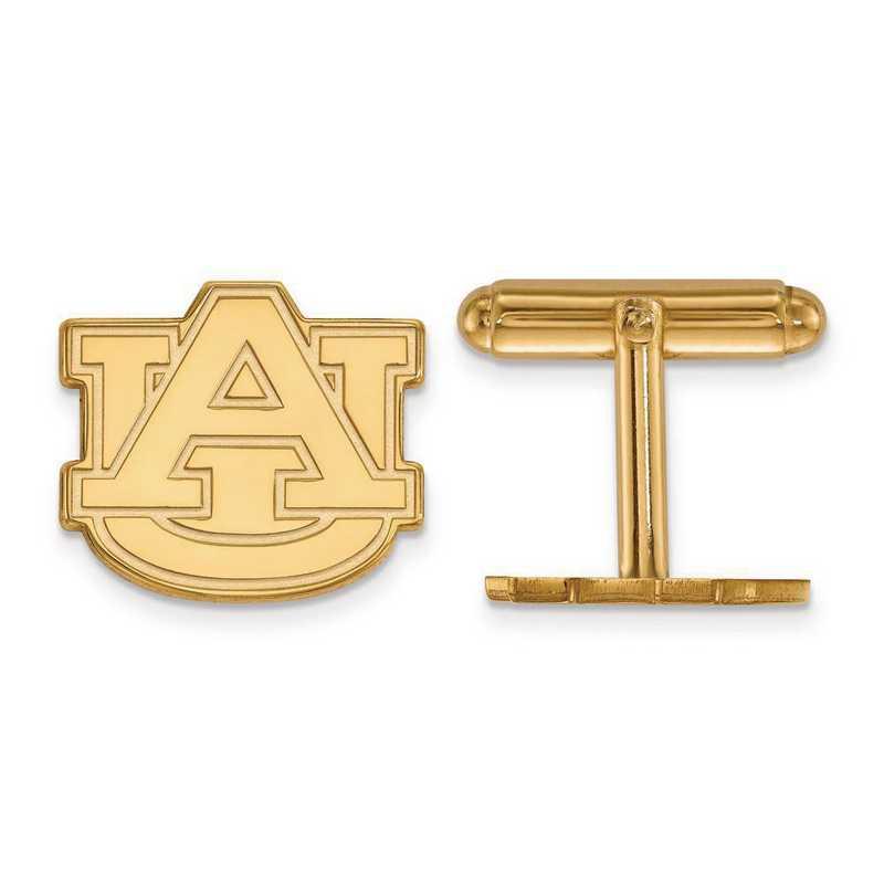 4Y012AU: 14ky LogoArt Auburn University Cuff Link