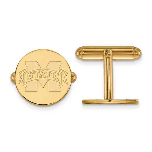 4Y012MSS: 14ky LogoArt Mississippi State University Cuff Link