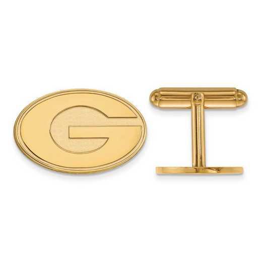 4Y012UGA: 14ky LogoArt University of Georgia Cuff Link