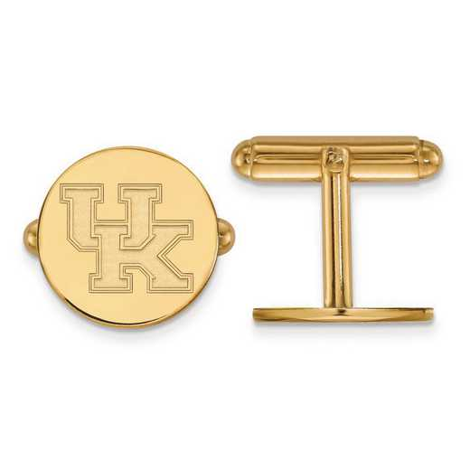 4Y012UK: 14ky LogoArt University of Kentucky Cuff Link