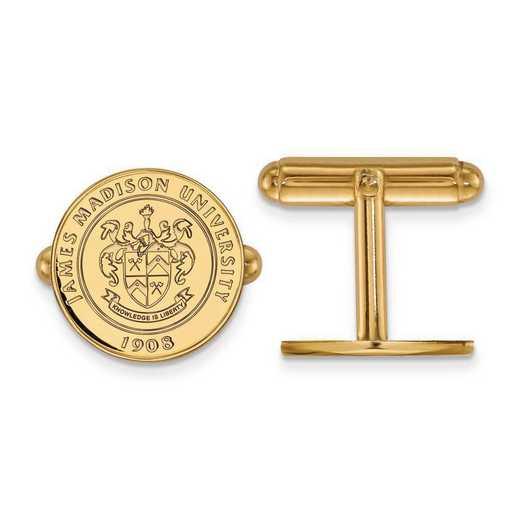 4Y017JMU: 14ky LogoArt James Madison University Crest Cuff Link
