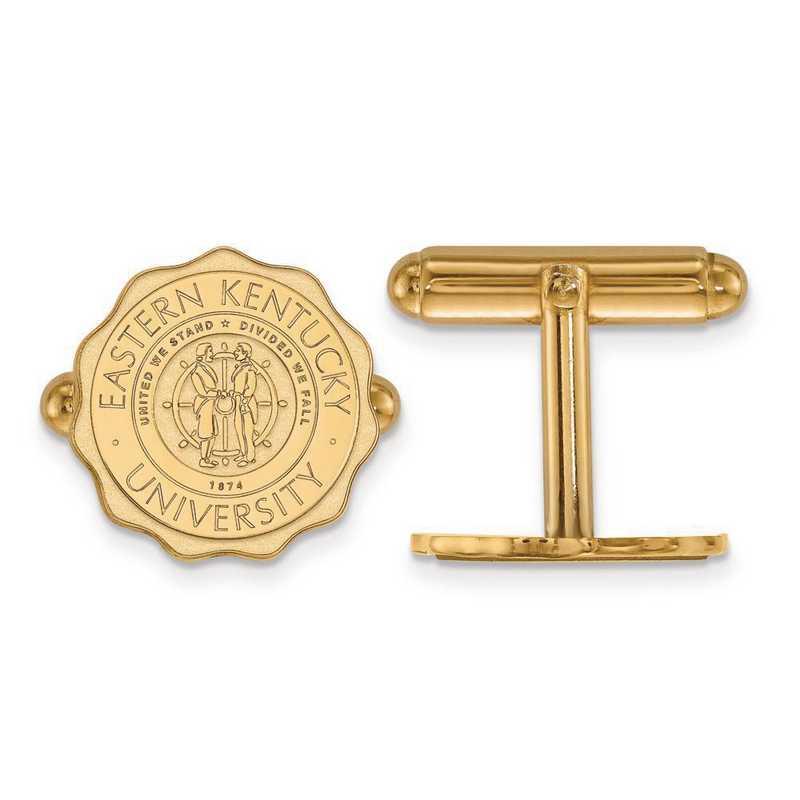 4Y018EKU: 14ky LogoArt Eastern Kentucky University Crest Cuff Link