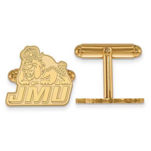 4Y020JMU: 14ky LogoArt James Madison University Cuff Links