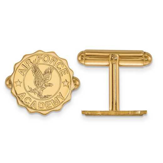 4Y025USA: 14ky LogoArt United States Air Force Academy Crest Cuff Link