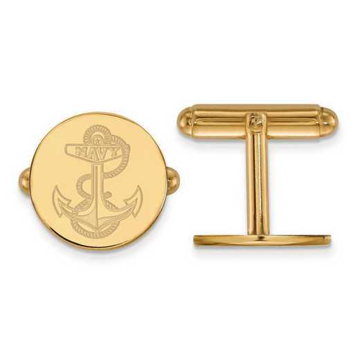 4Y025USN: 14ky LogoArt Navy Cuff Link
