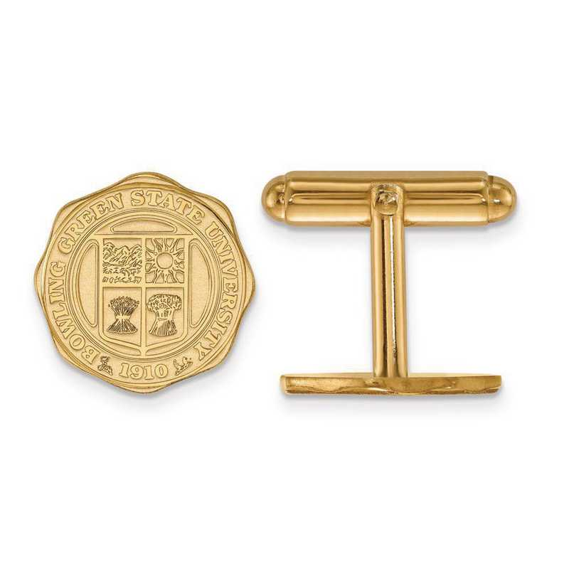 4Y026BG: 14ky LogoArt Bowling Green State University Crest Cuff Link