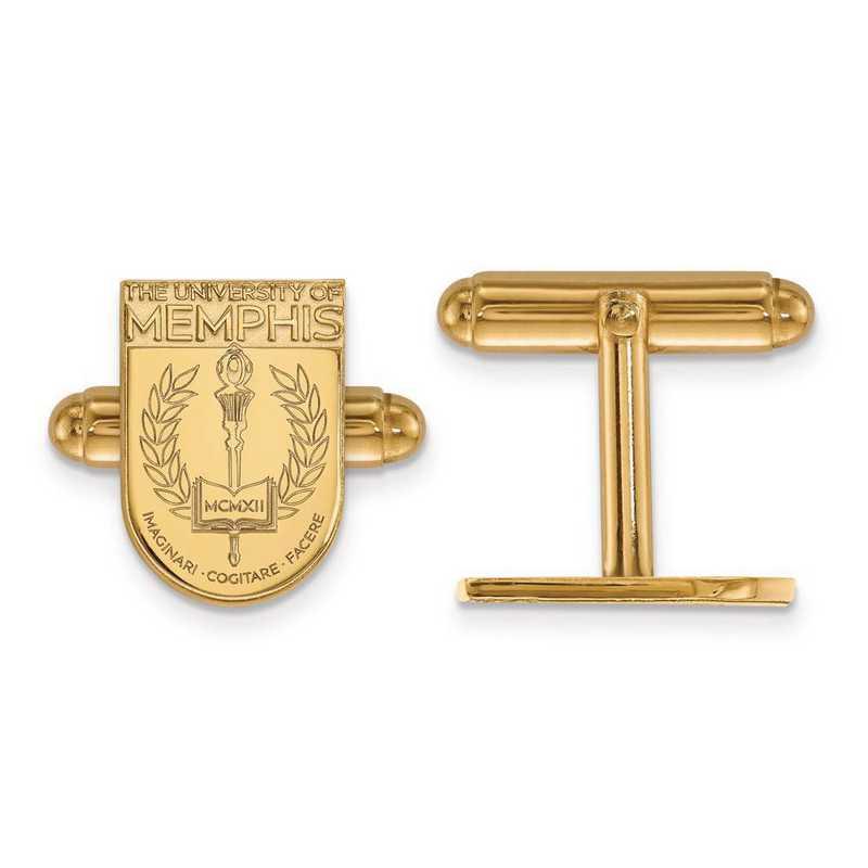 4Y029UMP: 14ky LogoArt University of Memphis Crest Cuff Link