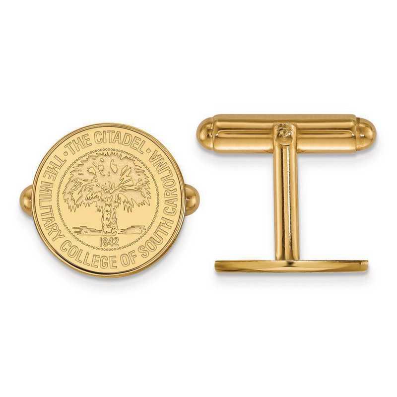 4Y033TCI: 14ky LogoArt The Citadel Crest Cuff Link