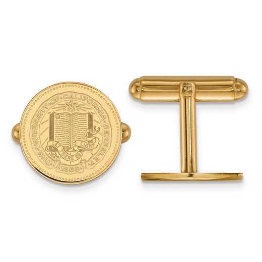 4Y041UCB: 14ky LogoArt Univ of California Berkeley Crest Cuff Link