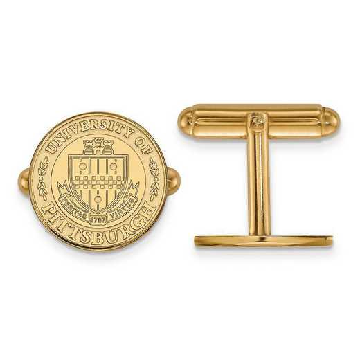 4Y048UPI: 14ky LogoArt University of Pittsburgh Crest Cuff Link