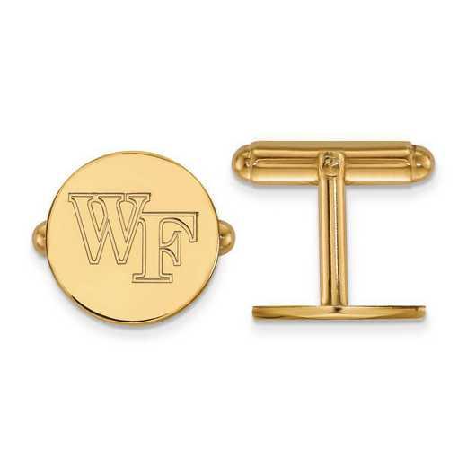 4Y063WFU: 14ky LogoArt Wake Forest University Cuff Links