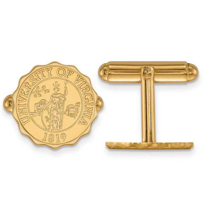 4Y069UVA: 14ky LogoArt University of Virginia Crest Cuff Link