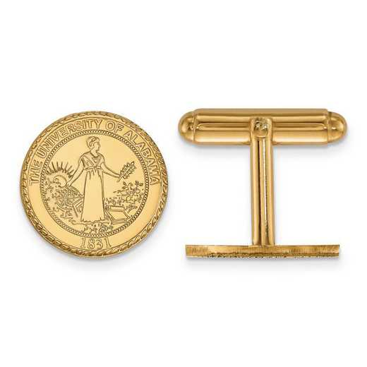 4Y081UAL: 14ky LogoArt University of Alabama Crest Cuff Link
