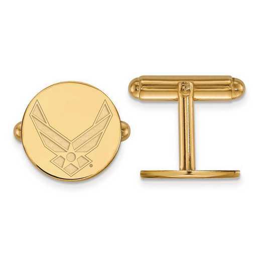 GP009USAF: Sterling Silver GP Logo Art U.S. Air Force Cuff Link