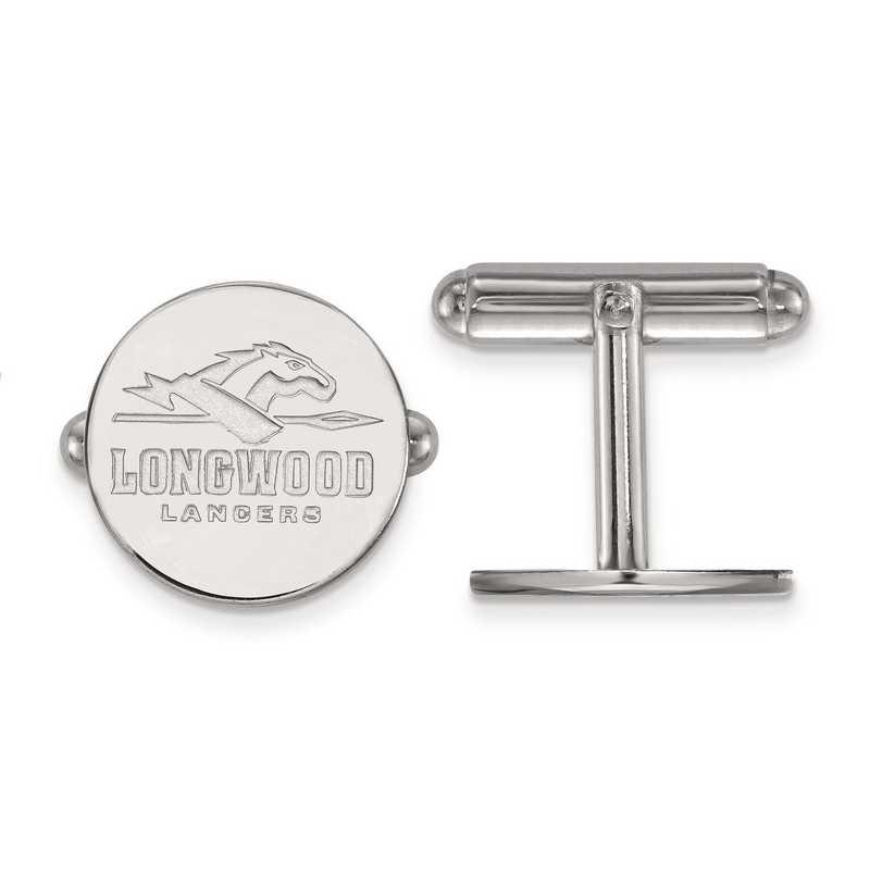 SS008LOC: SS LogoArt Longwood University Cuff Link