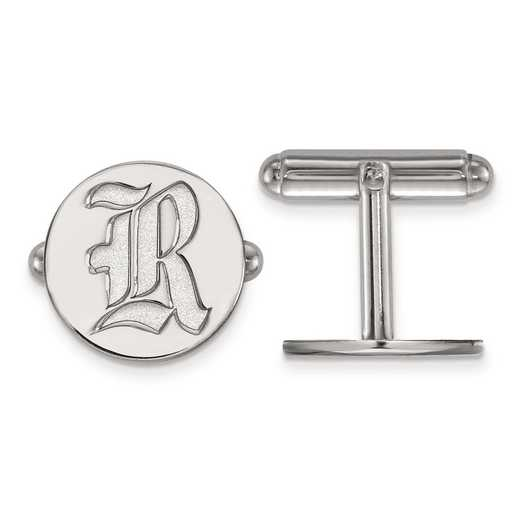 SS009WMR: SS LogoArt Rice University Cuff Links