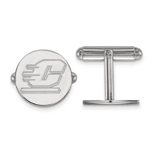SS010CMU: SS LogoArt Central Michigan University Cuff Link