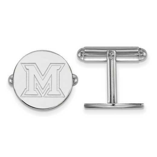 SS010MU: SS LogoArt Miami University Cuff Link