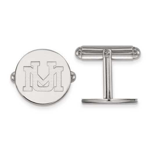 SS010UMT: SS LogoArt University of Montana Cuff Link