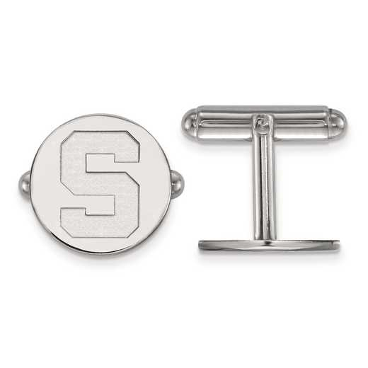 SS012MIS: SS LogoArt Michigan State University Cuff Link