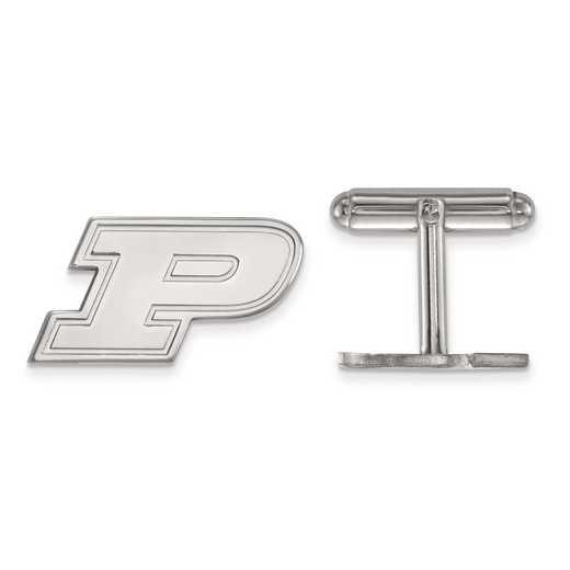 SS012PU: SS LogoArt Purdue Cuff Link
