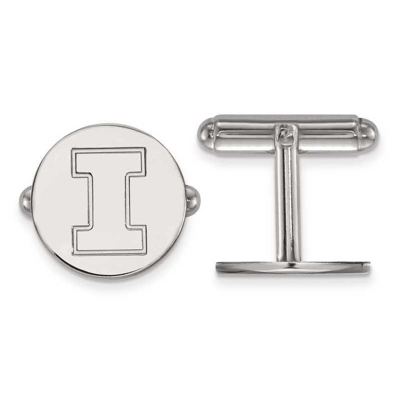 SS012UIL: SS LogoArt University of Illinois Cuff Link