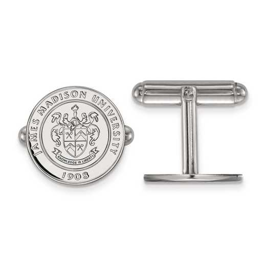 SS017JMU: SS LogoArt James Madison University Crest Cuff Link