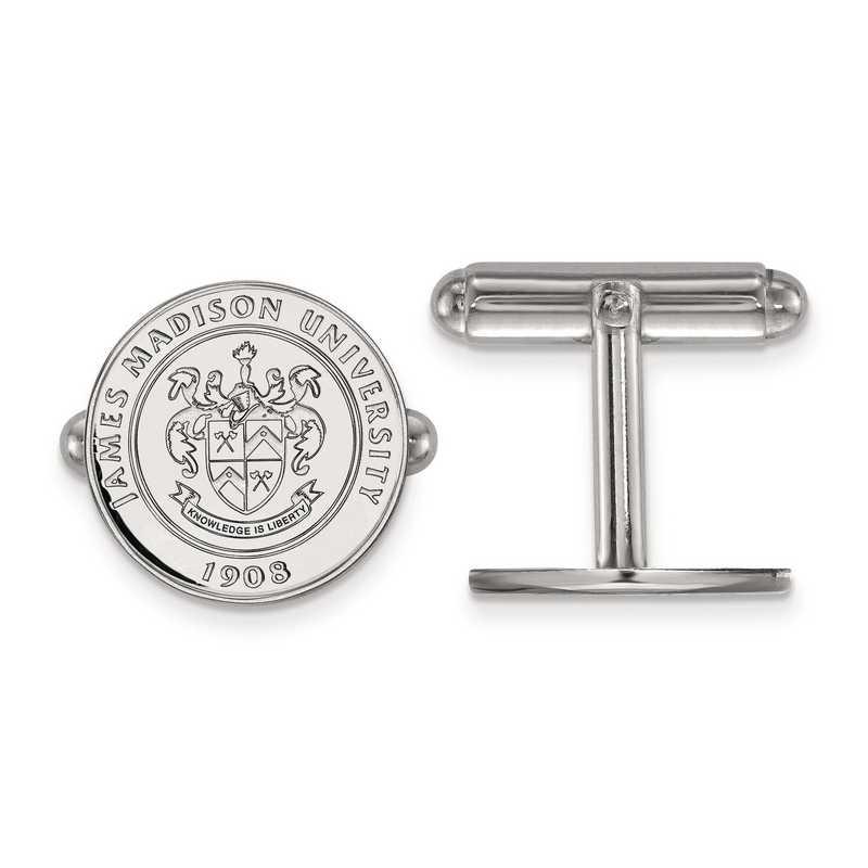 SS017JMU: SS LogoArt James Madison University Crest Cuff Link