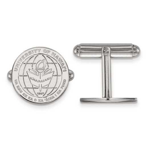 SS017UHI: SS LogoArt The University of Hawai'i Crest Cuff Link