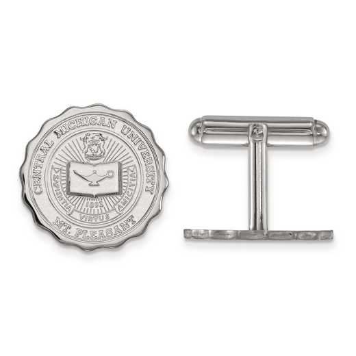 SS018CMU: SS LogoArt Central Michigan University Crest Cuff Link