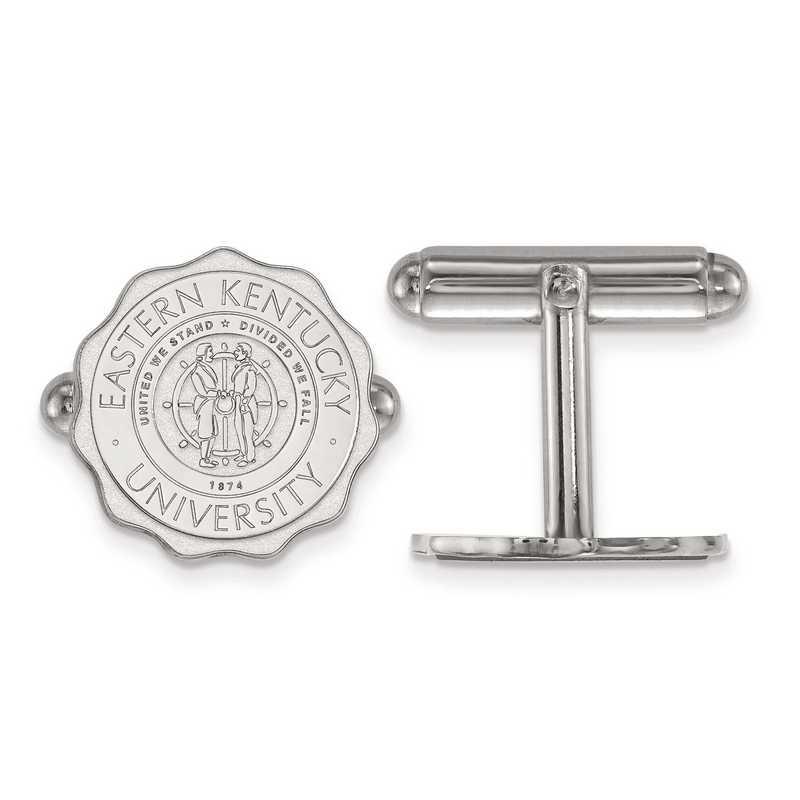 SS018EKU: SS LogoArt Eastern Kentucky University Crest Cuff Link