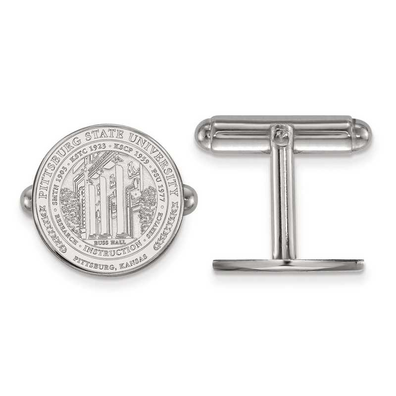 SS018PSK: SS LogoArt Pittsburgh State University Crest Cuff Link
