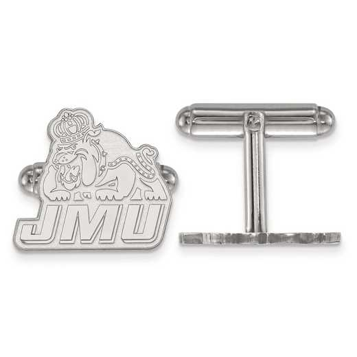 SS020JMU: SS LogoArt James Madison University Cuff Links