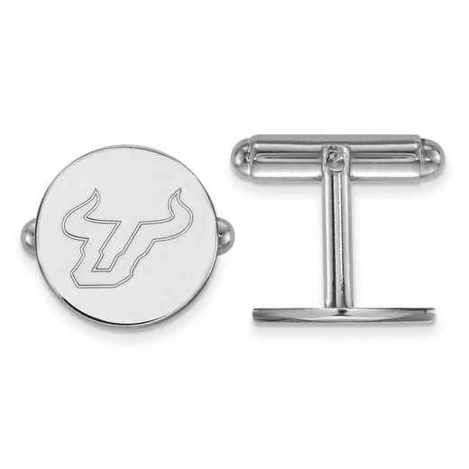 SS025USFL: SS LogoArt University of South Florida Cuff Links