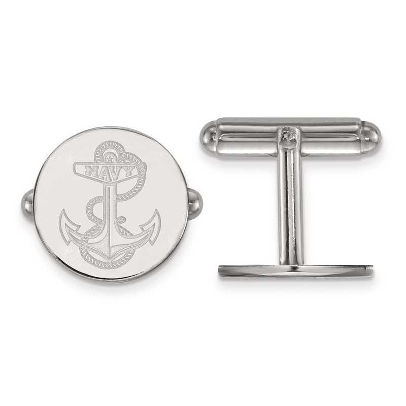 SS025USN: SS LogoArt Navy Cuff Link