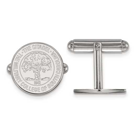 SS033TCI: SS LogoArt The Citadel Crest Cuff Link